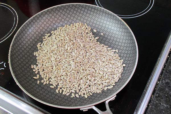 Toast the sunflower seeds