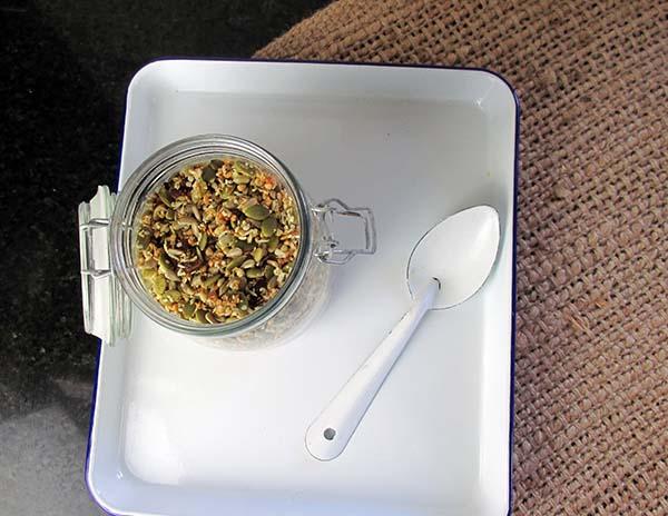 Transfer the mixture to an airtight jar.