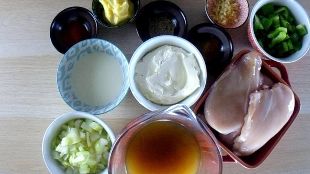 White chicken chilli ingredients