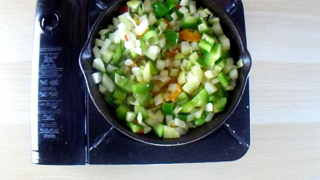 Cook the vegetables until they are softened.