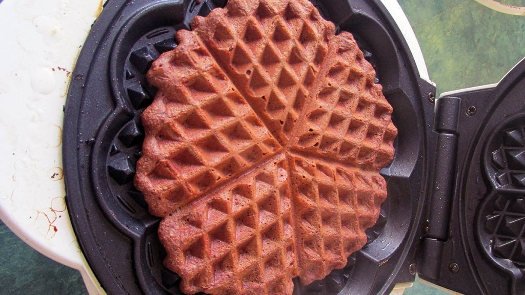 Cook the waffle until they are crisp on the outside but still have some give in the middle.