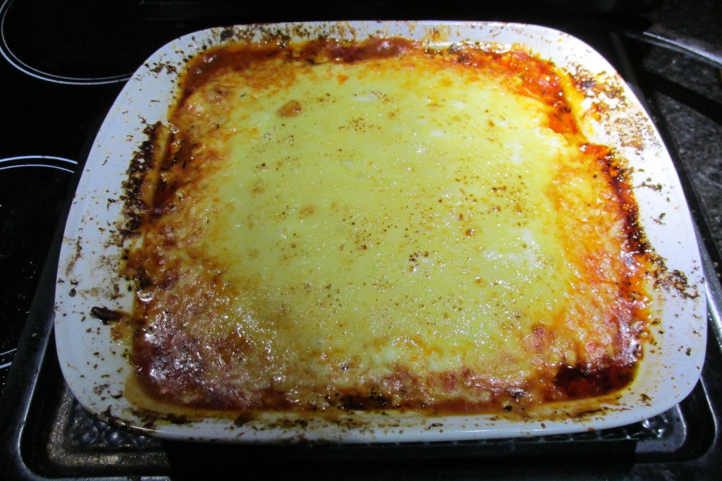 Bake the lasagne at 180 degrees C/ 350 degrees F for 30 minutes