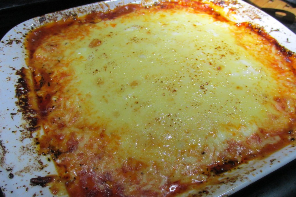 Hot lasagne fresh from the oven