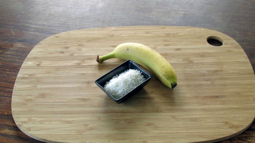 Banana and coconut cookies ingredients