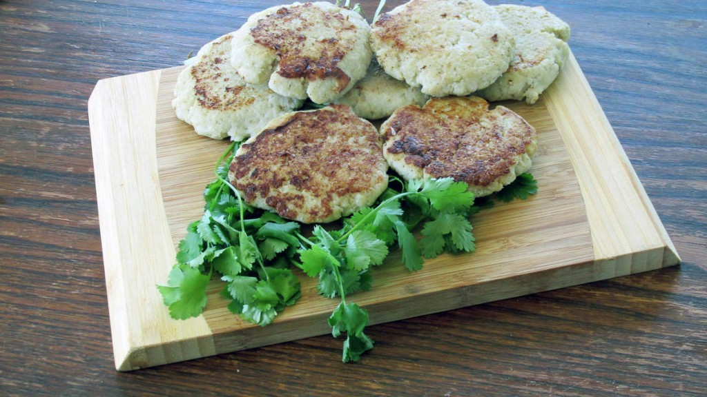 Cooked fish cakes ready to eat.