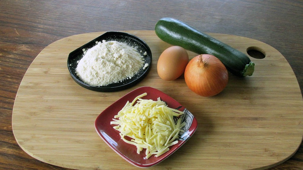 Courgette tots ingredients