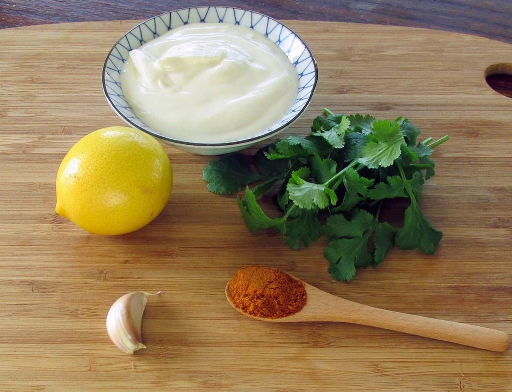 Lemon marinade ingredients.