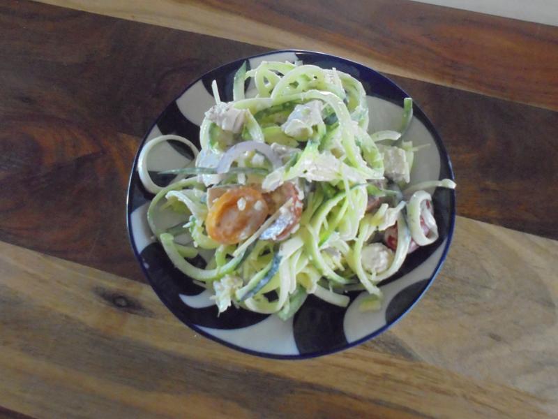 Tasty salad ready to eat.