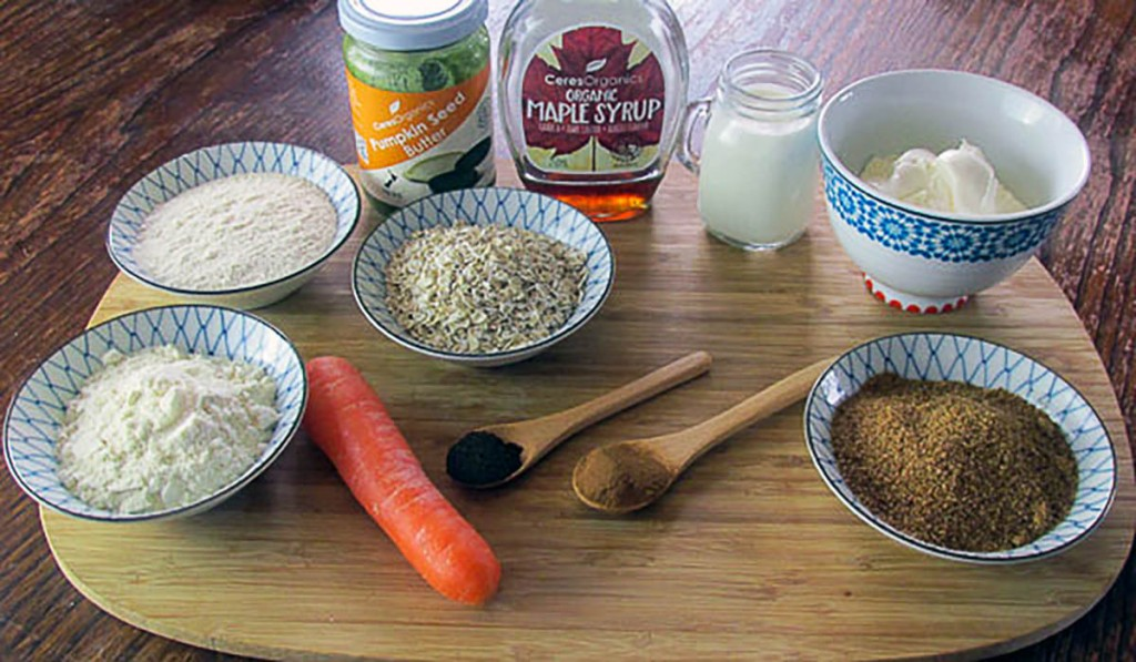 Carrot cake bar ingredients