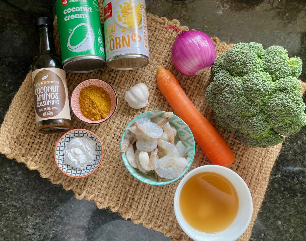 Aussie style curry ingredients
