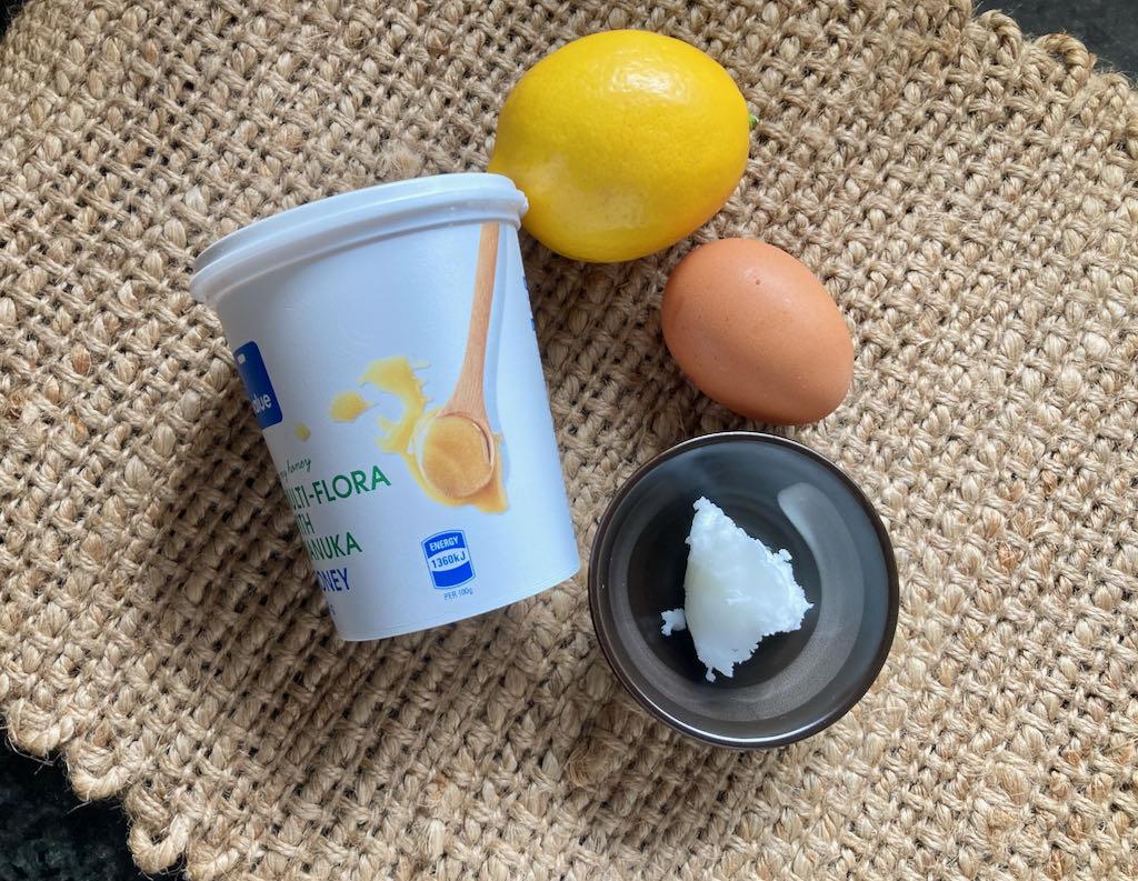 Lemon curd ingredients
