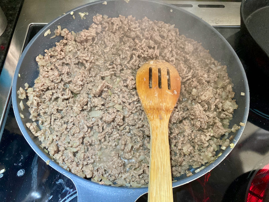 Cook until all of the meat is browned.